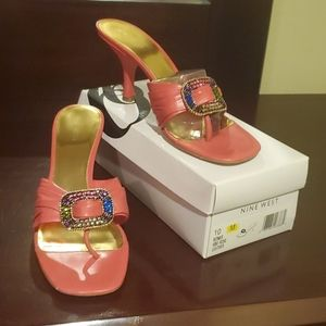Nine West Leather Sandal w Heel